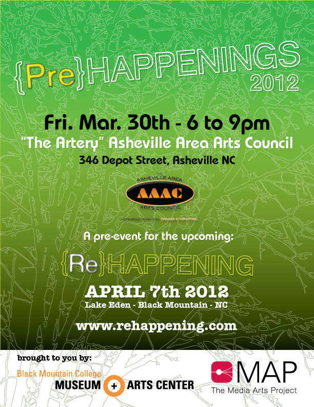 2012 {Pre}HAPPENING #2 at the Artery (AAAC) Friday March 30th